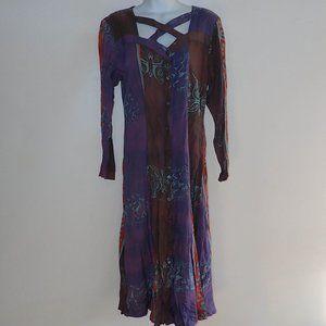 Ganesh Imports Batik Dress Women S Tribal Long